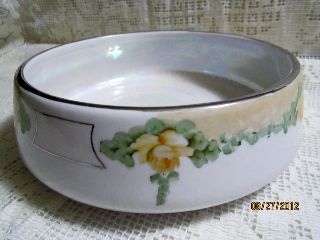 Vintage Royal Rochester Floral Yellow Roses Baking Casserole Bowl photo