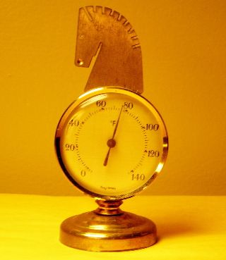 Vintage Germany Modernist Deco Thermometer Frysi B24 photo