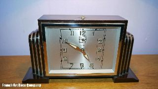 Bakelite French Art Deco Clock Bayard C1930 ' S photo