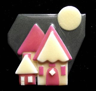 Modernist Art Deco Vintage Plastic Studio Brooch Pin By Lucinda Yates K photo