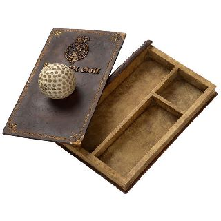 Art Deco Retro Vintage Royal Ancient Rule Of Golf Jewellery Trinket Storage Box photo