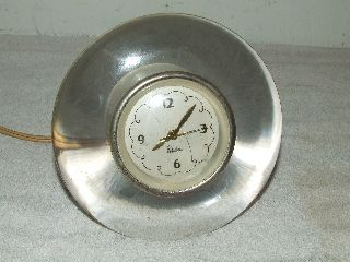 Vintage 1940 ' S Chelsea Clock Company Art Deco Lucite Glass Ve Desk Clock,  Rare photo