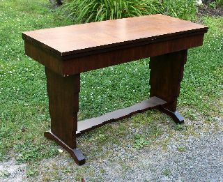 Fantastic Art Deco Skyscaper Sofa Table / Flip Top To Dining Table,  Circa 1920 ' S photo