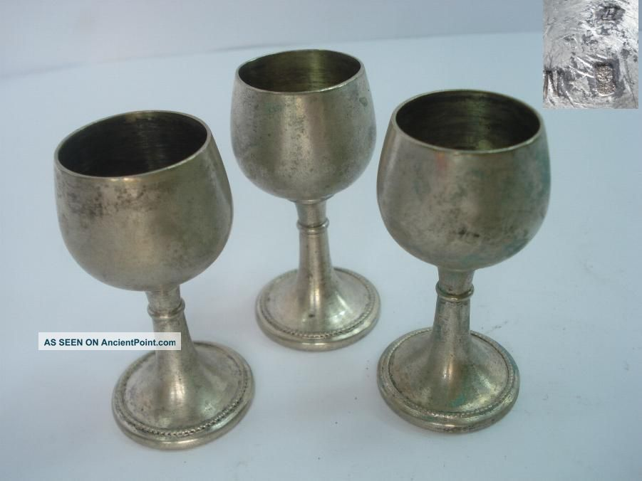 1930s Antique German Alcohol Cups Set Marked Wmf WMF photo