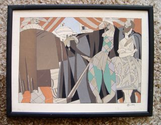 Balancoire Charles Martin Art Deco Pochoir Print From Sports Et Divertissements photo