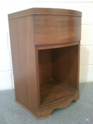 Simple,  Small Art Deco Solid Wood Nightstand In Good Condition photo