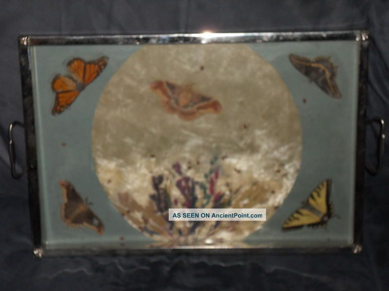 Deco/retro 1940 - 50 ' S Butterfly Serving Tray Platters & Trays photo