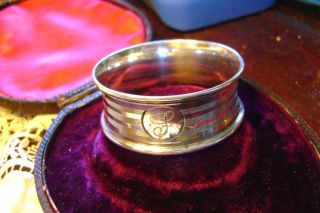Art Deco Charles Horner Silver Napkin Ring - Chester - 1923 photo