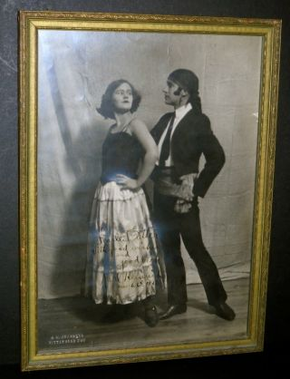 Autographed Art Deco Performers Spanish Dancers Photograph Pittsburgh Pa photo