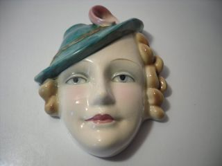 An Art Deco ' Goebel ' Full Face Wall Plaque : C1930 photo
