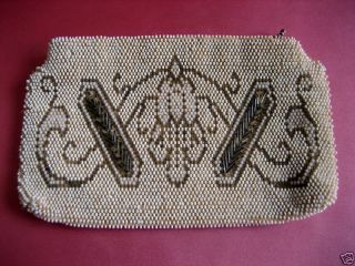 Vintage Art Deco Beaded Petite Purse Czechoslovakia photo