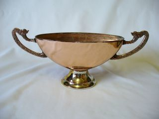 Art Deco - Copper & Silver Plate - Posy Vase - Dragon Handles photo
