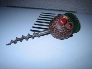Art Deco Nut Man Bottle Opener Corkscrew Rare Item photo