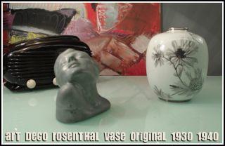 Rosenthal Selb Art Deco Vase 1930`40 Bauhaus Ère photo