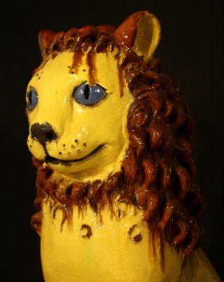 Art Deco - Art Pottery - Huge Lion - Masterpiece - Leo Leone LÖwe Unique photo