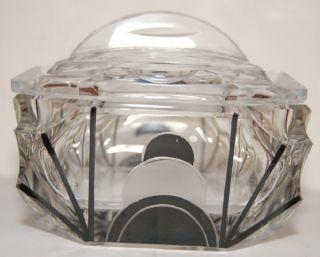 Vintage Art Deco Cut Glass Box C1925 photo