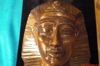 Antique Carved Limestone Egyptian Revival Pharaoh Bust