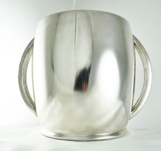 Art Deco Bauhaus Wine Champagner Cooler Silver Plate Quist Machine Age Modernist photo