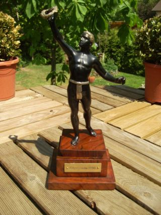 Orig.  1936 Berlin Olymipic Games Iron Cast Figurine photo