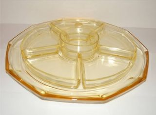 Art Deco Centerpiece Amber Glass Streit Von Stolz C1930 photo