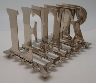 Art Deco Style Silver Plated Letter Rack photo