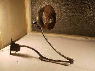 Rare Bauhaus Industrial Arm Lamp,  Kaiser Idell Wall Light photo