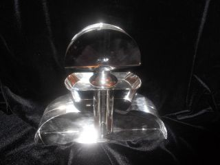 Large Art Deco Clear Glass Perfume Scent Bottle Perfect Present photo