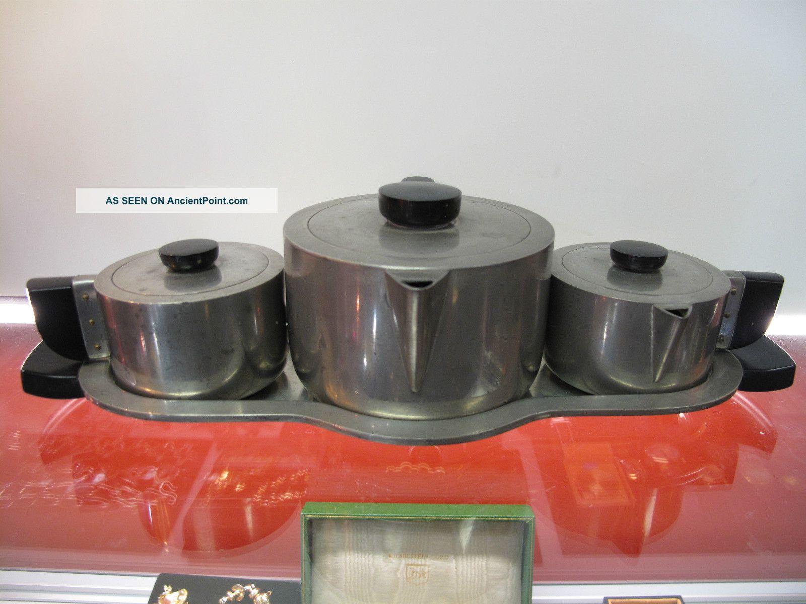 Jean Theobald Rare Art Deco Tea Set By Wilcox Circa 1930s Silver Eames Era Tea/Coffee Pots & Sets photo