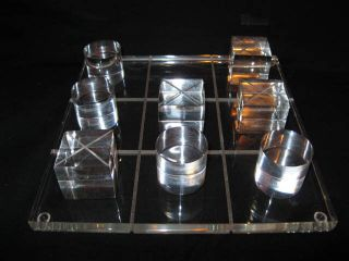 Tic Tac Toe Lucite Game photo