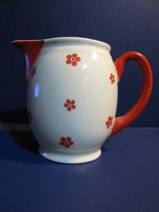 Rare Antique Eschenbach Bavaria Elfenbein Porzellan Floral Creamer C 1913 - 29 photo