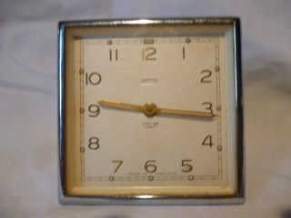 Vintage 1930/40 ' S Art Deco Chrome Side Clock By Smiths,  8 Day photo