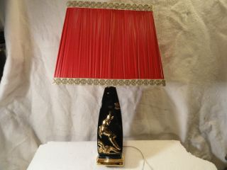 Art Deco Ceramic Glazed Table Lamp Refurbished Cord And Shade photo