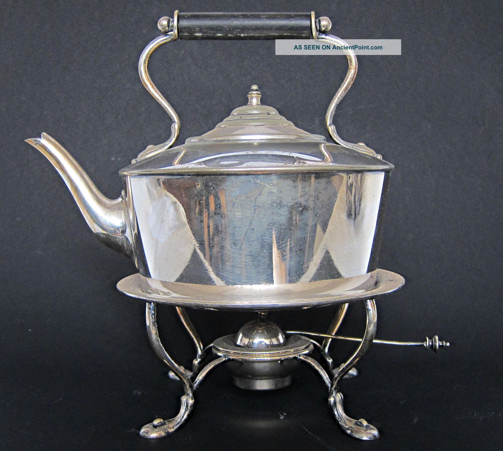 Victorian Antique Art Nouveau Silver Plated Spirit Kettle On Stand Glasgow 1900 Tea/Coffee Pots & Sets photo