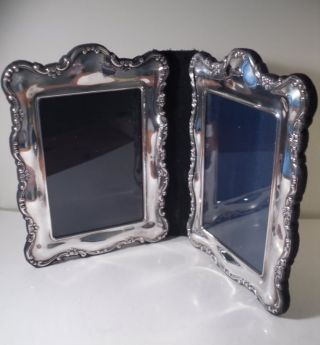 A Good Quality ' Carr ' S ' Silver Double Photo Frame : Sheffield 1990 photo