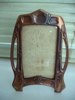 Antique Art Nouveau Copper Photo Frame - Iconic Design And In Vgc photo