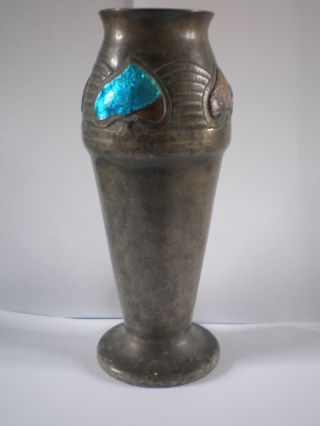 Antique Arts & Crafts Movement / Art Nouveau Tudric Pewter Vase photo