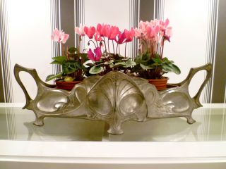Stunning Large Antique Victorian Art Nouveau Planter Plant Pot Window Box C1890 photo