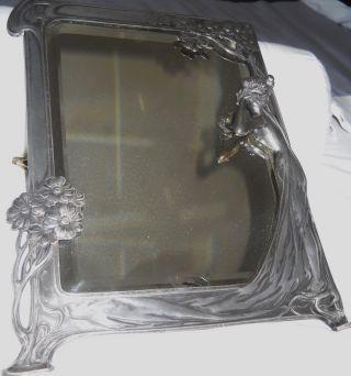 Wmf Art Nouveau Easel Mirror