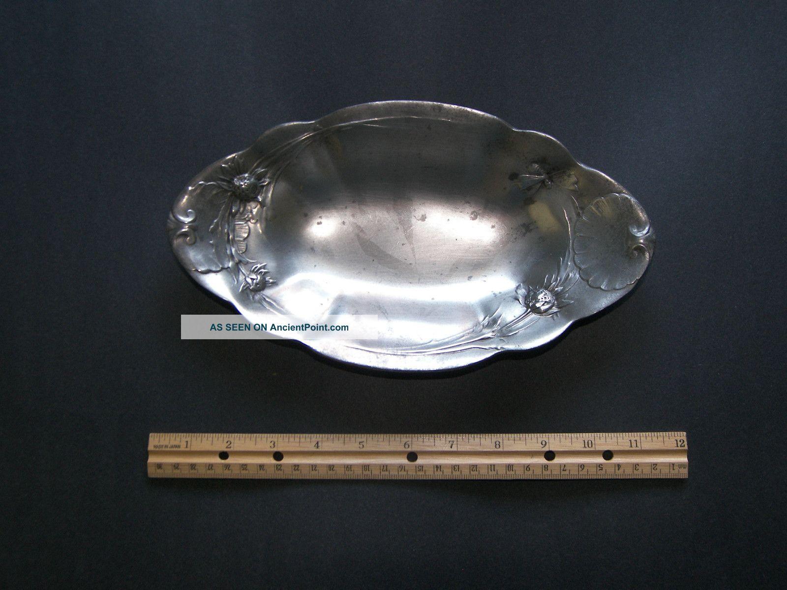 Kayserzinn Pewter Art Nouveau Tray Metalware photo
