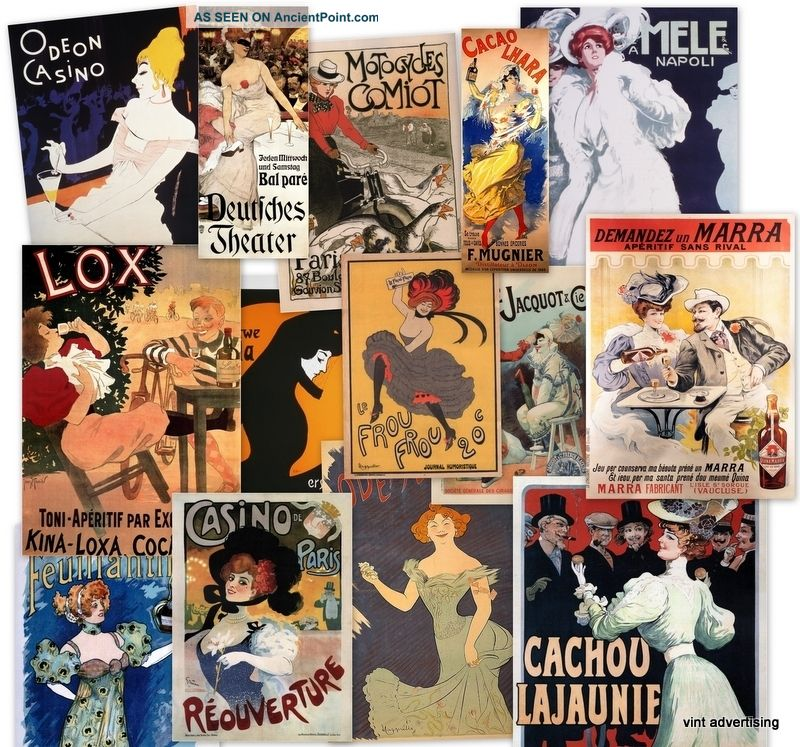 Vintage French Posters Art Deco Vintage French Art Nouveau