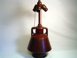 Great Tiffany Era Handel Arts & Crafts Prarie / Teco Style Bronze Lamp Base,  Nr photo