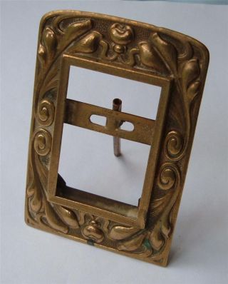 Attractive Art Nouveau Brass Photo Frame With Easle Strut photo