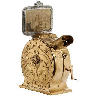 Early German Cast - Iron Art - Nouveau Style Mutoscope,  C.  1900 / Dt.  Jugendstil - M~ photo