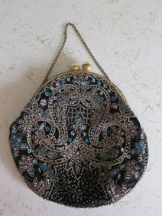 Antique French Beaded Handbag Must C Wonderful Condition photo