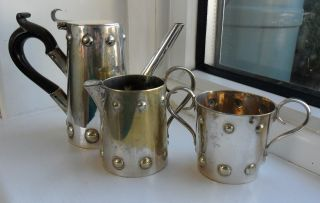 Vintage/art Nouveau Coffee Set In Silver Plate - Small Size - Really photo
