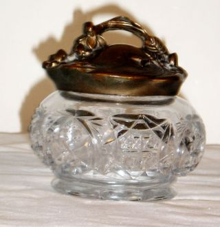 Vintage Or Antique Art Nouveau Dresser Jar M10 photo