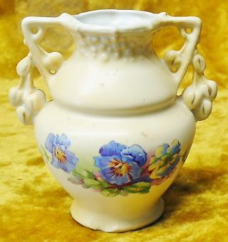 Antique Victorian Art Nouveau Miniature Austrian Vase photo