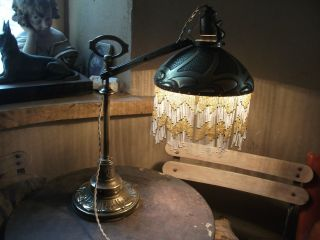 Truly Stunning French Art Nouveau Brass Desk Lamp.  C1890 Liberty? photo