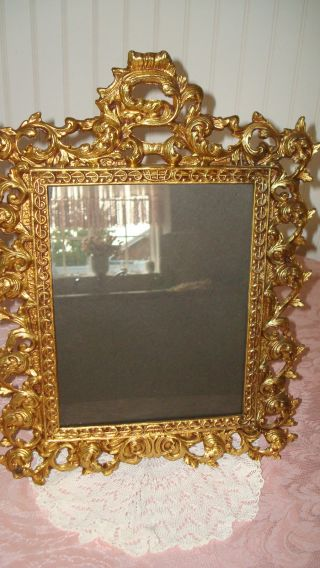 Antique/vintage Art Nouveau Vanity Mirror/picture Frame