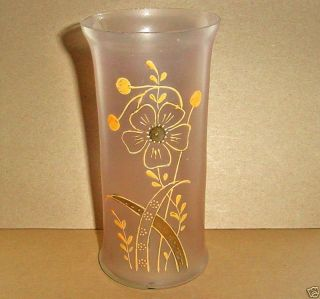 Jugendstil Art Nouveau Glass Vase Hand Painted Gold Designs Antique photo